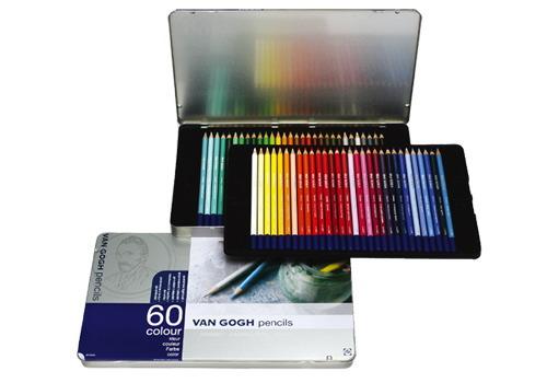 【送料無料】ヴァンゴッホ 色鉛筆60色セット