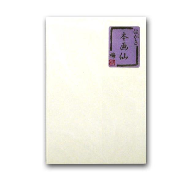 しっかりした厚みの両面画仙紙張り メール便対応 無地 ハガキ 葉書 年賀はがき 絵手紙用 正規品 本画仙 日本製 梅 10枚入り はがき