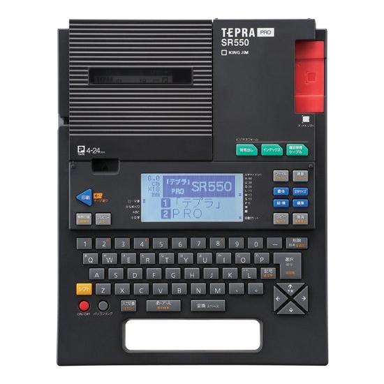 キングジム 라벨 라이터 「 テプラ 」 PRO SR550 블랙 테이프 폭: 4 ~ 24mm * SR530 후계