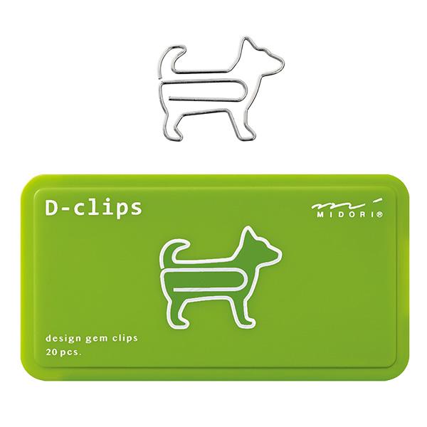 メール便対応可能商品 ご利用時は利用規約をご確認下さい 超目玉 ミドリ ディークリップス イヌ柄A デザインフィル 43386006 デザインと機能性を兼ね備えたゼムクリップ midori カラフルなスライドケース 上等