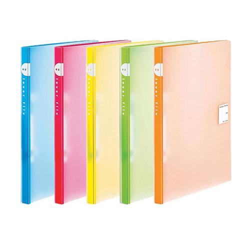 ※メール便でお送りすることはできません 当店限定販売 全5色 A4-S コクヨ レバーファイルEZ 軽く押すだけで簡単に開閉できる フ-U320 収容枚数120枚 選択 ソフトな色合い KOKUYO