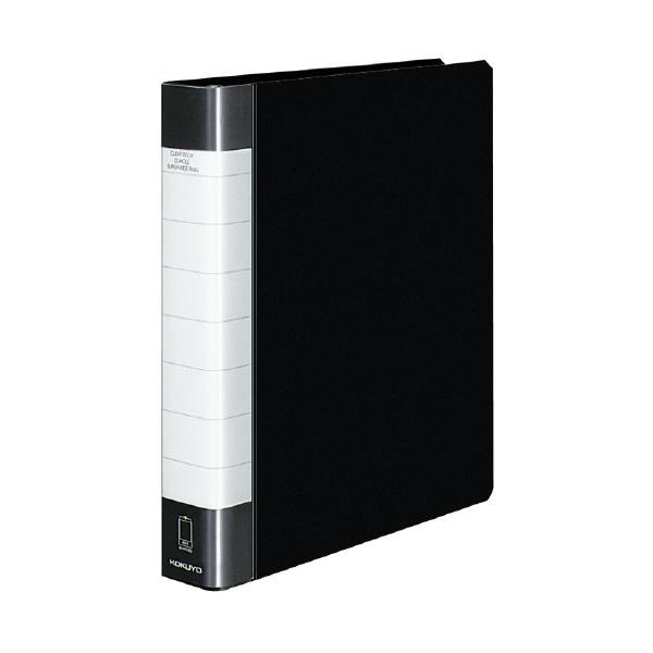 ※メール便でお送りすることはできません A4-S 縦型 コクヨ クリヤーブック タフボディ 替紙式 大量収容や長期の保管に最適 在庫一掃 KOKUYO 丈夫でたわみにくい貼り表紙タイプ 黒 安い 激安 プチプラ 高品質 30穴 ラ-J740D ポケット50枚付き