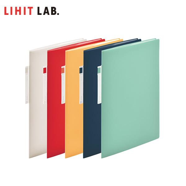 穴あけ不要で 供え キレイにファイルできる溶着式 人気 おすすめ 全5色 A4-S 10ポケット LIHIT LAB. リヒトラブ N-7674 見出し部分が立っているので取り出し簡単 noie-style オープンポケット クリヤーブック