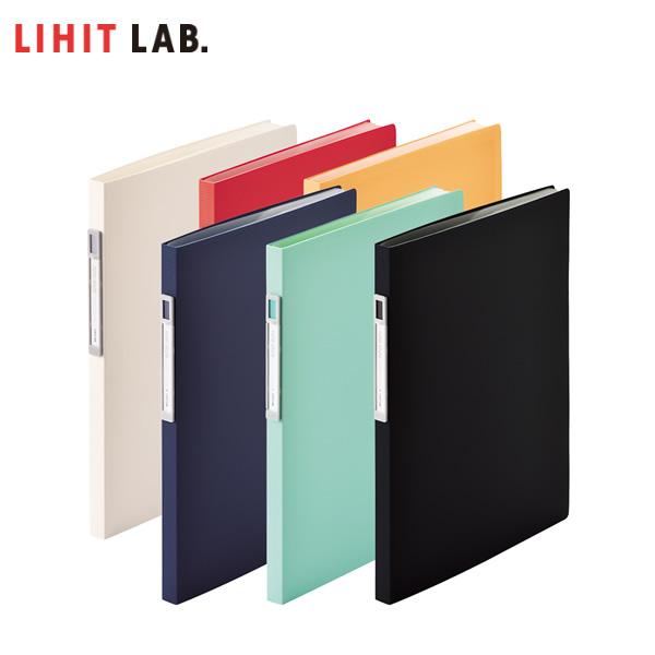 穴あけ不要で キレイにファイルできる溶着式 全6色 A4-S 10ポケット LIHIT LAB. オープンポケット 人気 N-7675 クリヤーブック 見出し部分が立っているので取り出し簡単 リヒトラブ 特価 noie-style