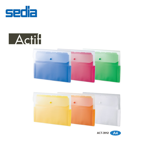書類を分かりやすくスッキリ分類 A4 全6色 セキセイ 出荷 アクティフ ドキュメントホルダー sedia 13ポケット お得なキャンペーンを実施中 ACT-3912 A4サイズ クリヤーフォルダーが入るワイドなサイズ