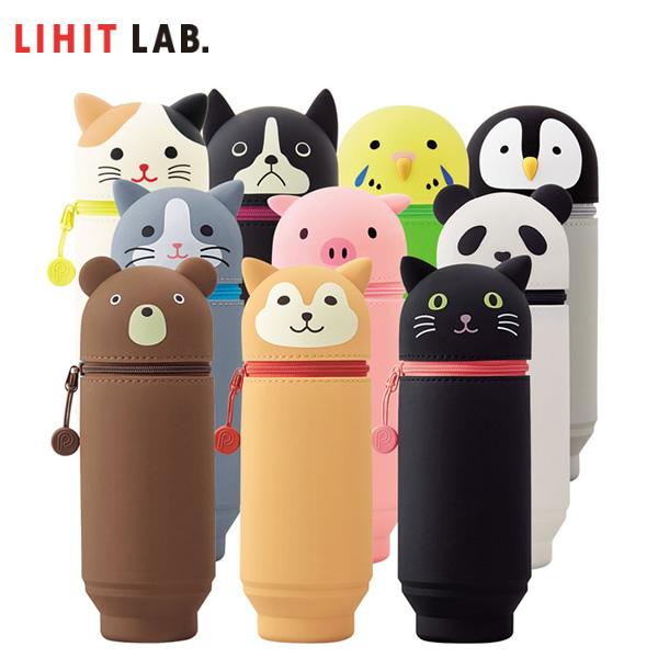 大好評の 立つ ペンケース大容量タイプ 全10柄 LIHIT LAB. リヒトラブ SMART 感謝価格 A-7714 BIGサイズ PuniLabo FIT ペンスタンドにも スタンドペンケース かわいい動物モチーフ 商い