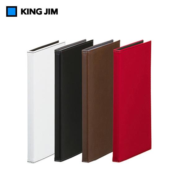 メール便対応可能商品です ご利用時は利用規約をご確認下さい 全4色 1列3段 キングジム レザフェス カードホルダー 訳あり 高級感が漂い 72ポケット※最大120枚収納 優先配送 名刺やカードをすっきり収納 JIM No.1911LF KING