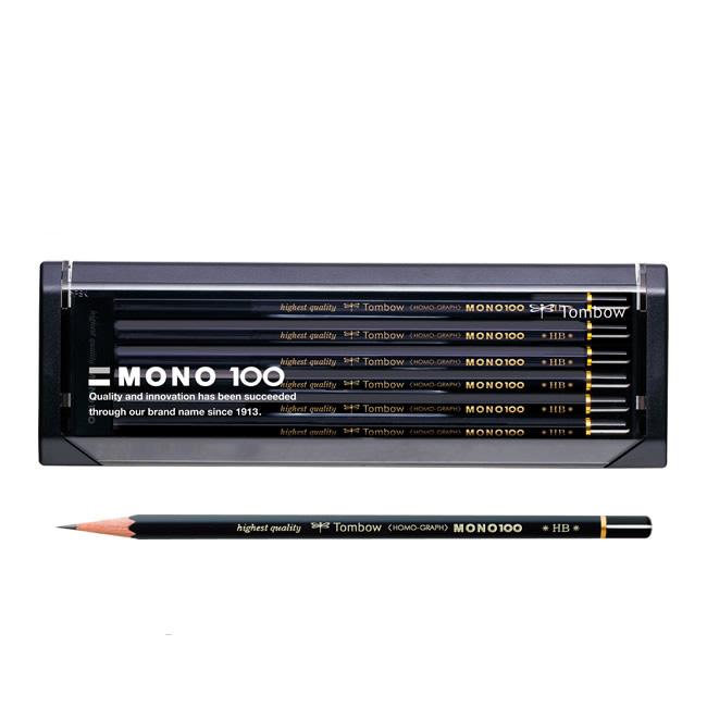 ★メール便対応可能商品です★メール便をご希望の場合はご利用条件をご確認下さい!  【硬度:9H~6B】トンボ鉛筆/モノ100(MONO-100)六角 1ダース 濃くなめらかで、折れにくい。MONOシリーズの最高級鉛筆