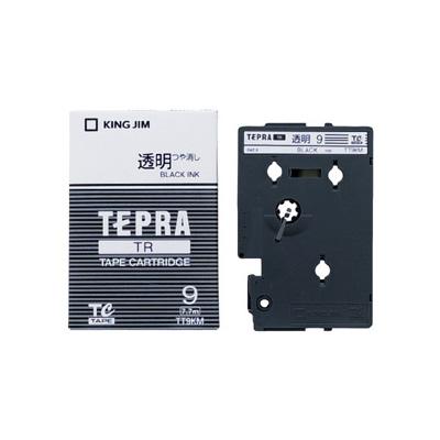 キングジム テプラTRテープカートリッジ 透明ラベル TT9KM 9mm幅 TRシリーズ専用テープカートリッジ マット 再再販 黒文字 透明 使い勝手の良い