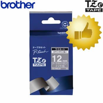 DM便対応可能商品です DM便をご希望の場合はご利用条件をご確認下さい 12mm幅 ブラザー 本日限定 ピータッチ用おしゃれテープ TZe-MQL35 ライトグレー 白文字 12mm幅 長さ5m オフィスに TZeテープ 公式ストア 入園 お名前付けに 入学 テープカートリッジ ラミネートテープ※TZ-MQL35後継テープ brother 整理整頓