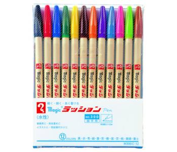 メール便対応可能商品です 12色セット 寺西化学 マジックラッションペン M300C-12 水性サインペン セールSALE%OFF イラスト等に 細字用 事務用 定価の67%OFF 宛名書き