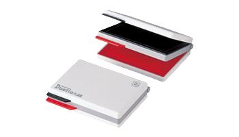 シャチハタ デュエットスタンプ台 エコス HFW-2EC 贈答 物品 赤 黒 使いやすくて便利な2段式