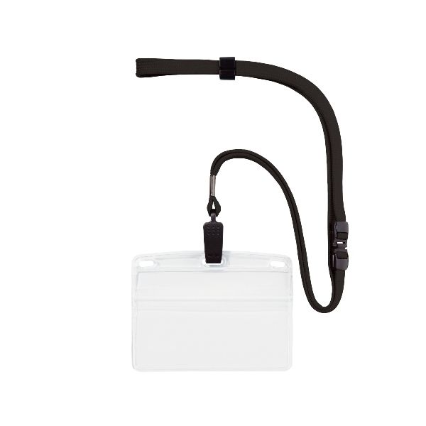 オープン工業 実物 NL-8-BK 吊り下げ名札 クリップ式 ヨコ名刺 10枚 NL8BK 発売モデル 黒