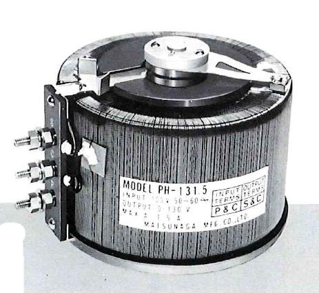 【個数:1個】【納期-約2.5ヶ月】マツナガ PH-130.5 直送 代引不可・他メーカー同梱不可 摺動電圧調整器 PH130.5【送料無料】