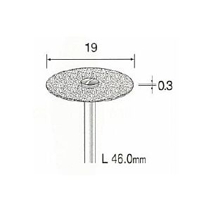 ミニター MINITOR MC1312 メタルボンドダイヤモンドカッティングディスク 全層 φ19 MC-1312