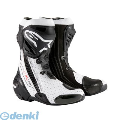 アルパインスターズ alpinestars 8051194746368 SUPERTECH-R BOOT 0015 122 BLACK WHITE VENTED サイズ:43