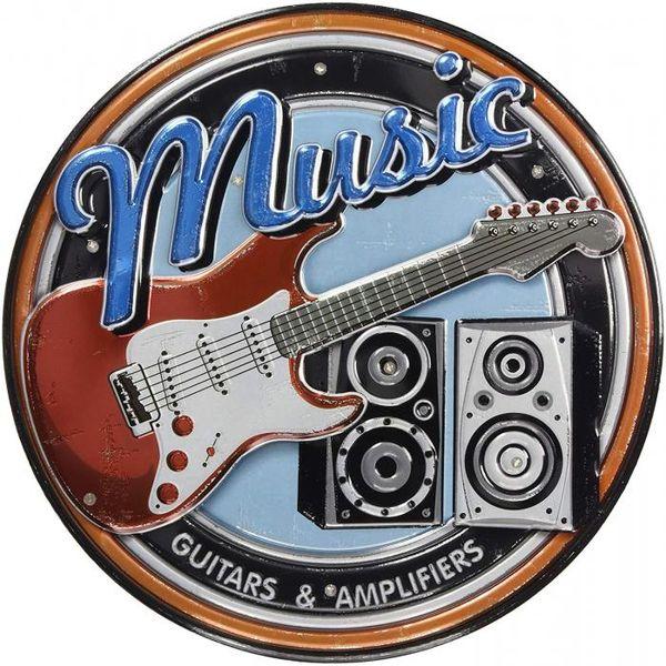 4511546091927 【12個入】 LEDステッカー アメリカンサイン ギター AS-GT