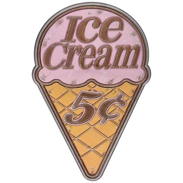 4511546091934 【12個入】 LEDステッカー アメリカンサイン アイスクリーム AS-IC
