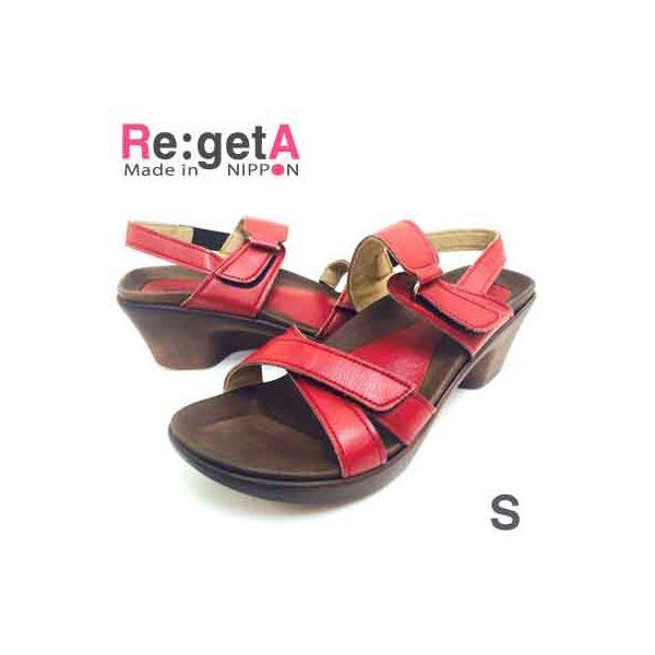 4560416498151 【10個入】 RegetA リゲッタ アシメトリーサンダル R-282レッド S