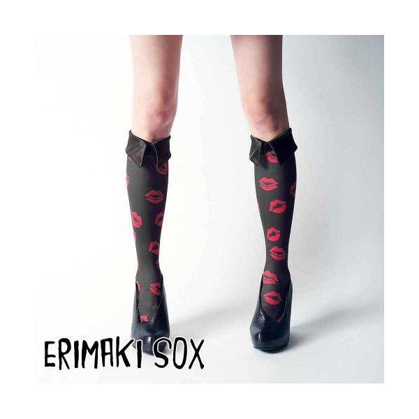 55320 【4個入】 ERIMAKI SOX Hi エリマキソックス リップ ERH-004BLACK レディース 32909