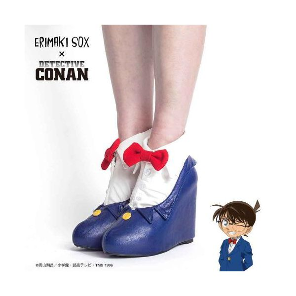 67141 【3個入】 ERIMAKI SOX 名探偵コナン×エリマキソックス コナンVer パンプス&靴下セットパンプス:24.5cm/靴下:23-25cm 35405