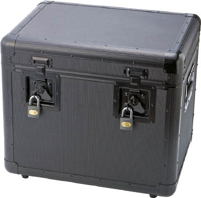 【あす楽対応】【個数:1個】トラスコ中山 TRUSCO TAC480BK 万能アルミ保管箱 黒 480X360X41 416-2943