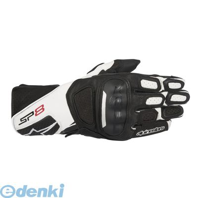 アルパインスターズ alpinestars 8021506612469 SP-8 LEATHER GLOVE 8317 12 BLACK WHITE M