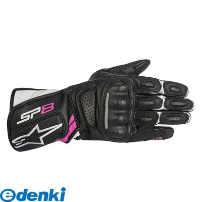 アルパインスターズ alpinestars 8021506614753 STELLA SP-8 V2 LEATHER GLOVE カラー:BLACK WHITE FUCHSIA サイズ:XS