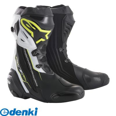 アルパインスターズ alpinestars 8021506926597 SUPERTECH-R BOOT カラ-:158 BLACK YELLOW FLUO WHITE サイズ:42 26.5