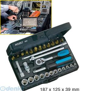 【納期-通常7日以内に発送 在庫切れ時-約2ヶ月】ハゼット HAZET 854 ラチェットセット1/4 854