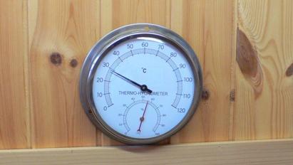 【個数:1個】アイシー SERMO-550 ステンレスサウナ用温湿度計 サーモ550 SERMO550