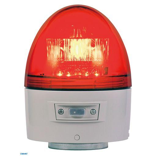 【個数:1個】日恵 [VK11B-003BR] 「直送」【代引不可・他メーカー同梱不可】 電池式高輝度回転灯【ブザー付き】 φ118 ニコカプセル高輝度 赤VK11B003BR【送料無料】