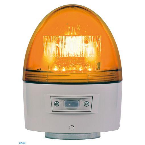 【個数:1個】日恵 VK11B-003BY 直送 代引不可・他メーカー同梱不可 電池式高輝度回転灯【ブザー付き】 φ118 ニコカプセル高輝度 黄VK11B003BY【送料無料】