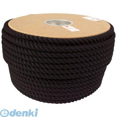【あす楽対応】ユタカメイク PRC61 ロープ 綿ロープドラム巻 12φ×100m ブラック【送料無料】