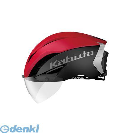 OGK KABUTO(オージーケーカブト)[4966094568313] AERO-R1 ヘルメット マットブラックレッド-4 S/M【送料無料】
