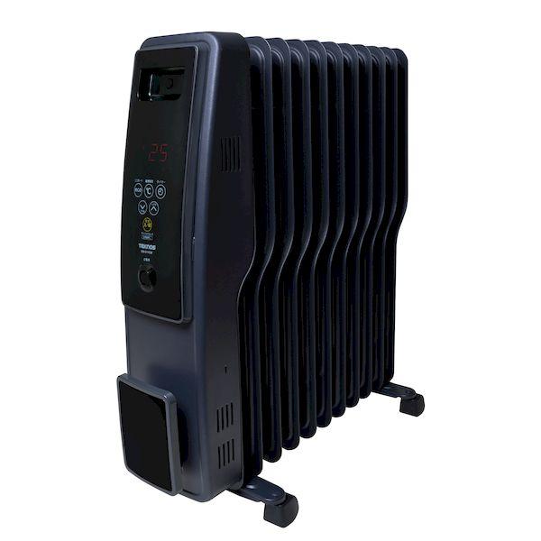 テクノス TEKNOS TOH-D1102K オイルヒーター 11枚フィン デジタル表示 黒 艶消し TOHD1102K