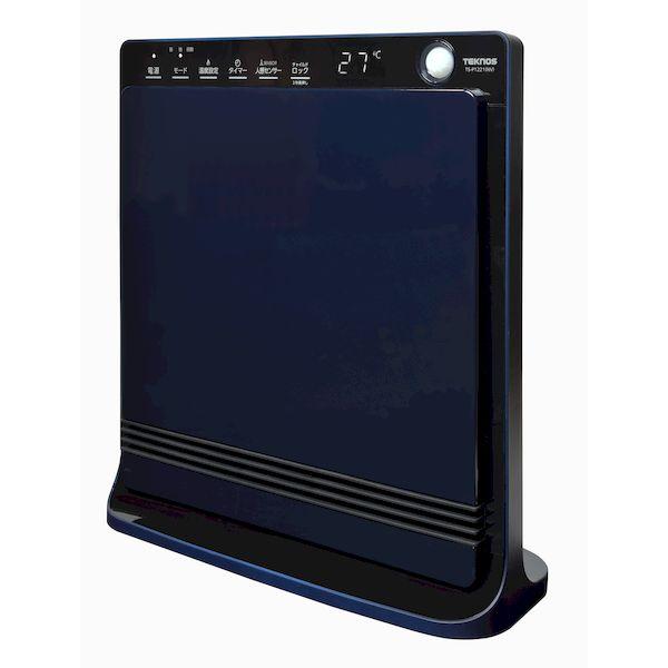 テクノス TEKNOS TS-P1221 NV パネル型セラミックファンヒーター温度表示付き 1200W 650W ネイビー TSP1221 NV
