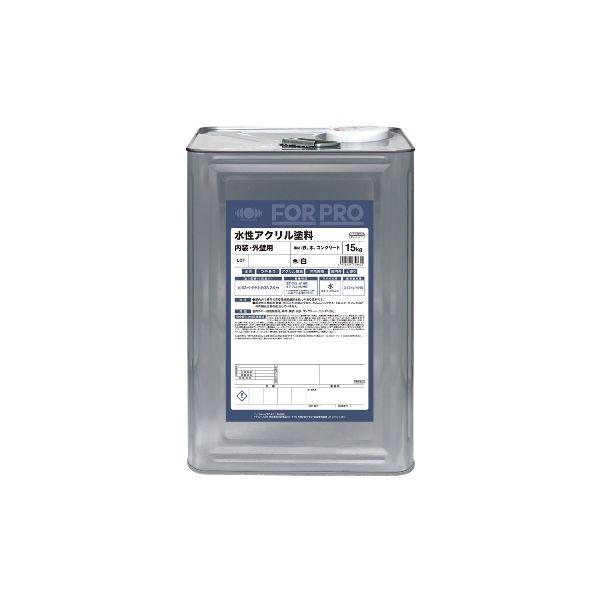 ニッペホームプロダクツ[4976124748622] FOR PRO FORPRO 水性アクリル塗料 白 15kg