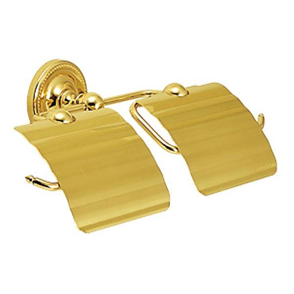 ゴーリキアイランド 640789 真鍮製ペーパーホルダー Polish Brassシリーズ 横2連 金色 真鍮 紙巻き器 アンティーク レトロ 北欧
