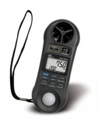セールSALE [LM-8000] AHLT-100 マルチ環境計測器一台で照度計.風速計.温度計.湿度計特製キャリングケース付風力計 LM8000