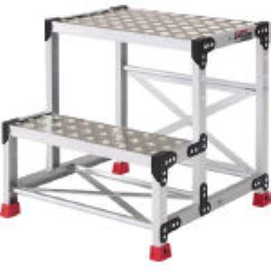 【個数:1個】トラスコ中山 TRUSCO TSFC-257 アルミ合金製作業台 縞鋼板 500X400X70 TSFC257