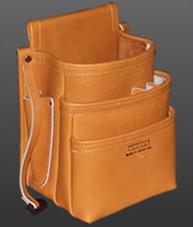 ニックス KNICKS KN-301DD-SP 3段総グローブ 皮使用仕上腰袋【茶】 KN301DDSP