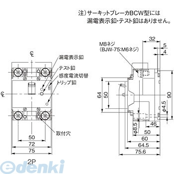 パナソニック Panasonic BCW2100K サーキットブレーカ BCW型【キャンセル不可】