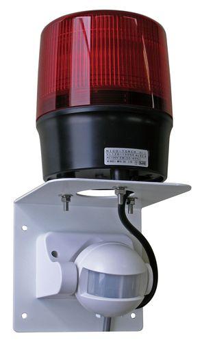 【個数:1個】【受注生産品 納期-約2週間】日恵製作所 VL12R-100BJ2R/P 直送 代引不可・他メーカー同梱不可 人感センサー付・φ120 LED回転灯 ニコトーチ・120 ブザー付 赤 プラグ付 VL12R100BJ2R/P