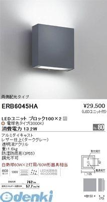 遠藤照明 ERB6045HA アウトドアブラケット/両側配光/BLOCK100/グレー