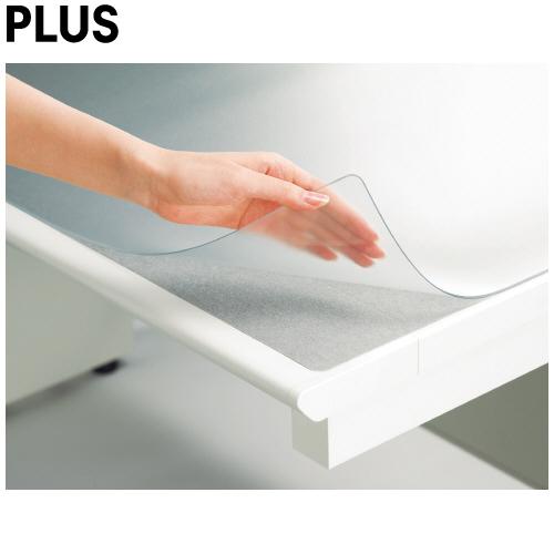 【適用机147】プラス/ななめカット・デスクマット(DM-146MW・41-334) OAタイプ 全体がマウスパッドとして使用可能 OA環境に適したデスクマット/PLUS