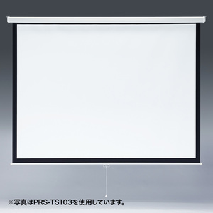 【サンワサプライ】プロジェクタースクリーン(吊り下げ式) 85型 PRS-TS85 【TD】【パソコン周辺機器/PC/】【代金引換不可】