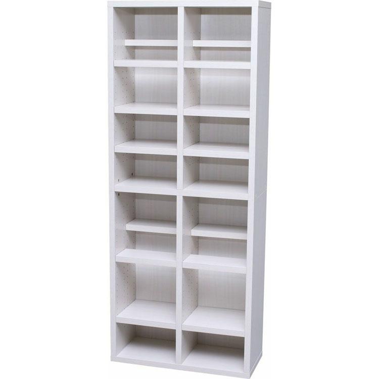 本棚 大容量 ブックシェルフ BKSW-1875送料無料 本棚 大容量 ブラウン シェルフ 木製 ラック おしゃれ 北欧 ディスプレイラック 飾り棚 オフホワイト ウォールナット アイリスオーヤマ