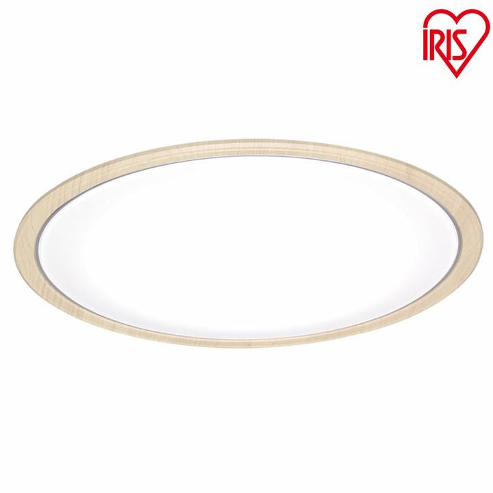 【2台セット】シーリングライト LED おしゃれ 14畳 木目調 アイリスオーヤマ led リモコン付 照明器具 天井照明 電気 調光 調色 CL14DL-5.0WF送料無料 IRISOHYAMA ウォールナット・ナチュラル
