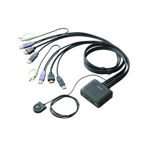 【送料無料】【ELECOM】パソコン切替器/HDMI対応 KVM-HDHDU2  エレコム 【TD】05P18Jun16